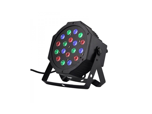 18pcs-1w-rgb-slim-flat-led-par-light